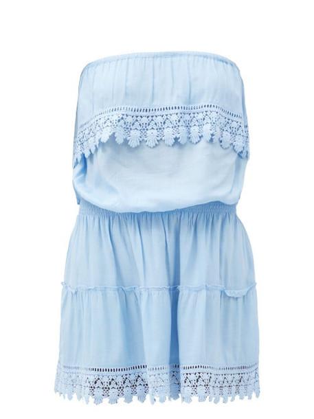 Melissa Odabash - Joy Ruffled Strapless Mini Dress - Womens - Light Blue