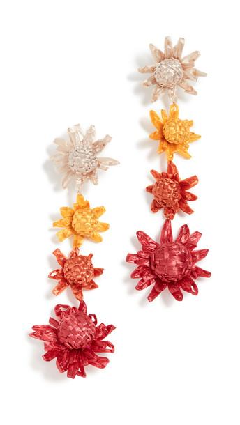 All Things Mochi Habiska Earrings in red