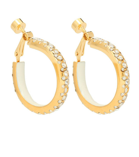 Marni Embellished hoop clip-on earrings in gold