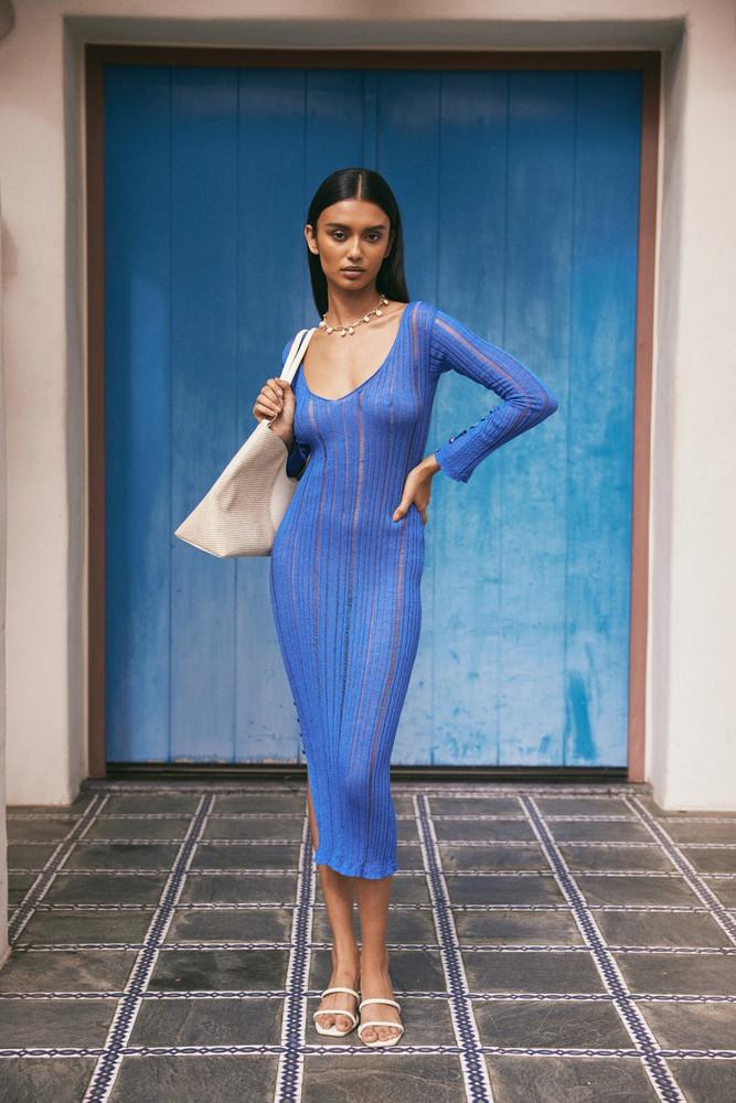 Cult Gaia Antonella Knit Dress - Sapphire (PREORDER)                                                                                               $328.00