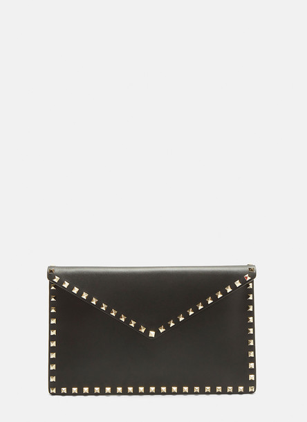 Valentino Rockstud Envelope Pouch in Black size One Size