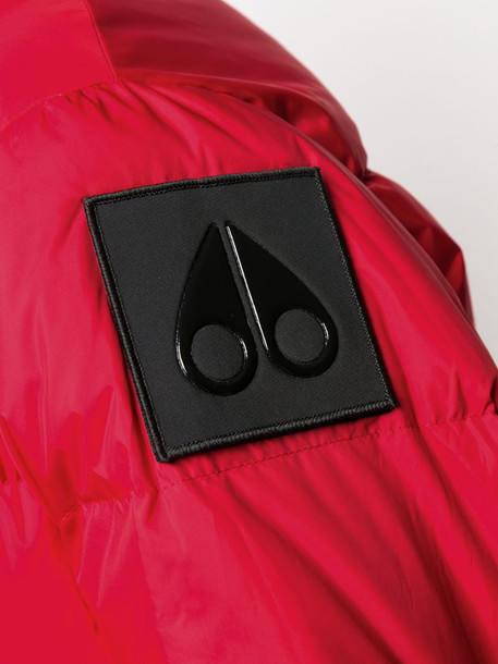 Moose Knuckles panelled puffer jacket in red