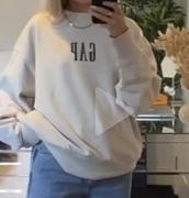 sweater,gap sweatshirt,beige