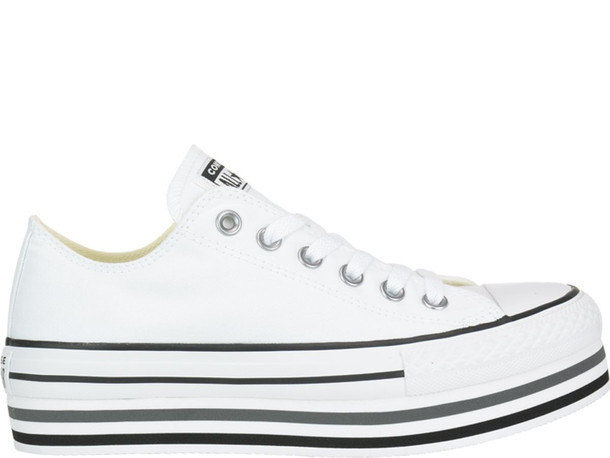Converse Chuck Taylor All Star Platform Layer Sneakers in white