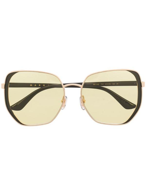 Marni Eyewear ME114S oversize-frame sunglasses in brown