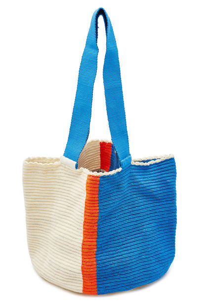 Sophie Anderson Medium Crochet Tote Bag  in blue