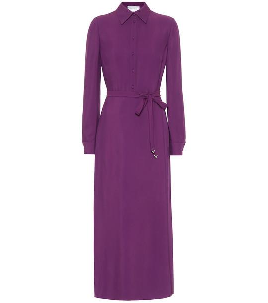 Valentino Belted shirt dress in purple