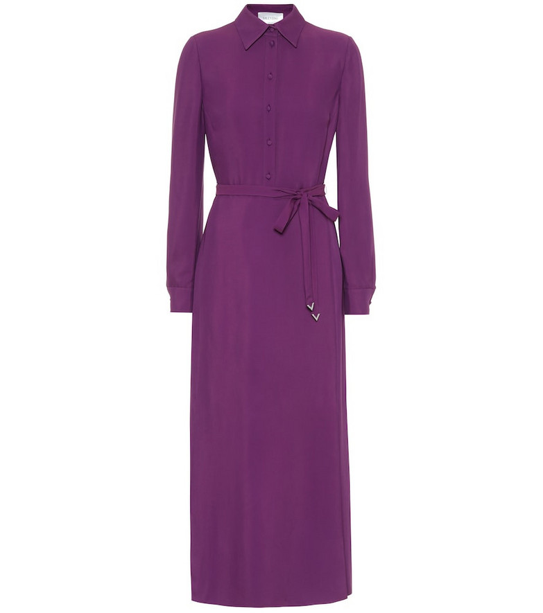 Valentino Belted shirt dress in purple