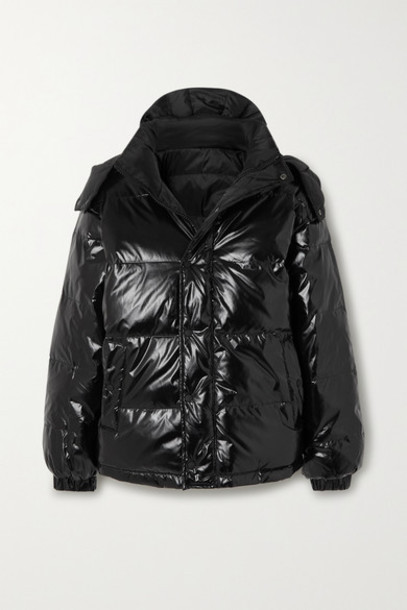Ksubi - Flashback Reversible Quilted Glossed-shell Down Jacket - Black