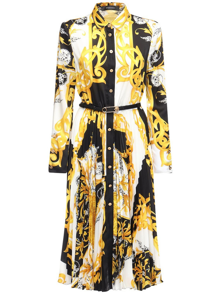 VERSACE Printed Twill Shirt Dress