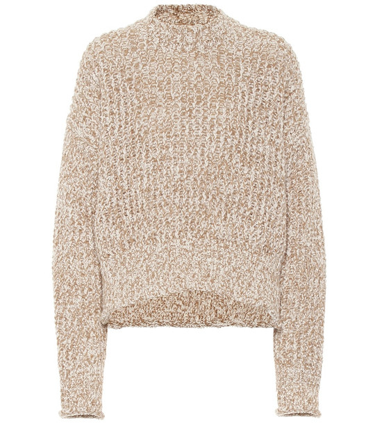 Jil Sander Wool-blend sweater in beige