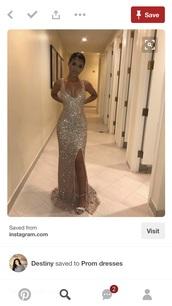 dress,gold sequin prom dress