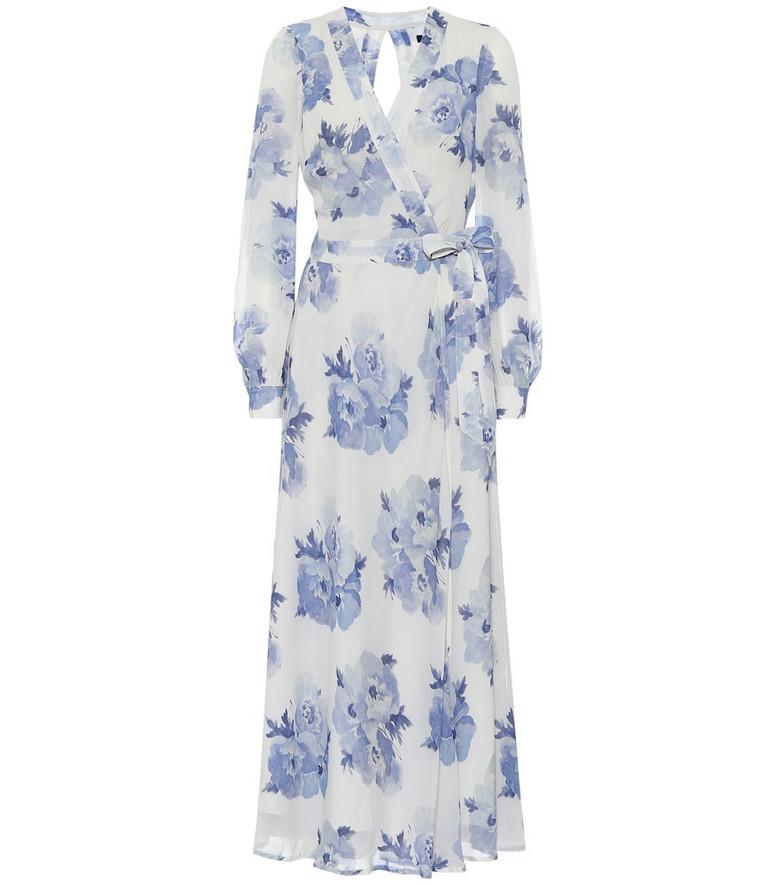 Polo Ralph Lauren Floral maxi wrap dress in white