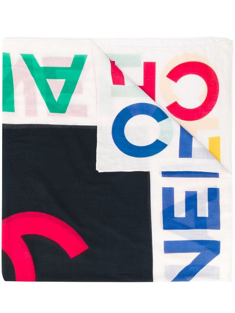 Chanel Pre-Owned 1990s logo print scarf in blue