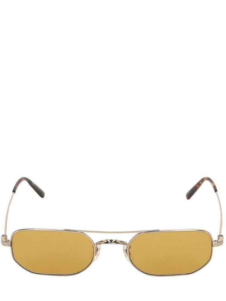 OLIVER PEOPLES Indio Squared Titanium Sunglasses in orange / silver
