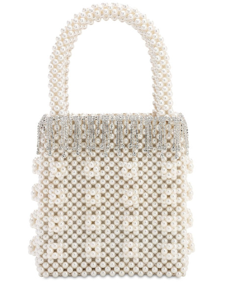 SHRIMPS Huckleberry Beaded Top Handle Bag in cream