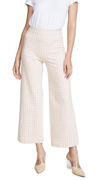 Rosetta Getty Pull On Straight Trousers in orange / white