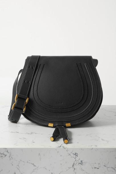 Chloé Chloé - Marcie Medium Textured-leather Shoulder Bag - Black