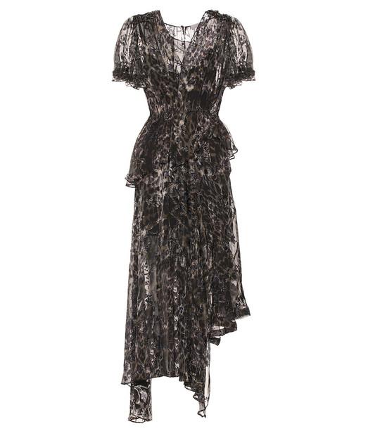 Preen by Thornton Bregazzi Esther silk-blend midi dress in brown