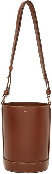 A.P.C. A.P.C. Brown Small Ambre Bucket Bag