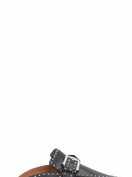 Givenchy Elegant Studded Leather Pointy-toe Loafers in black