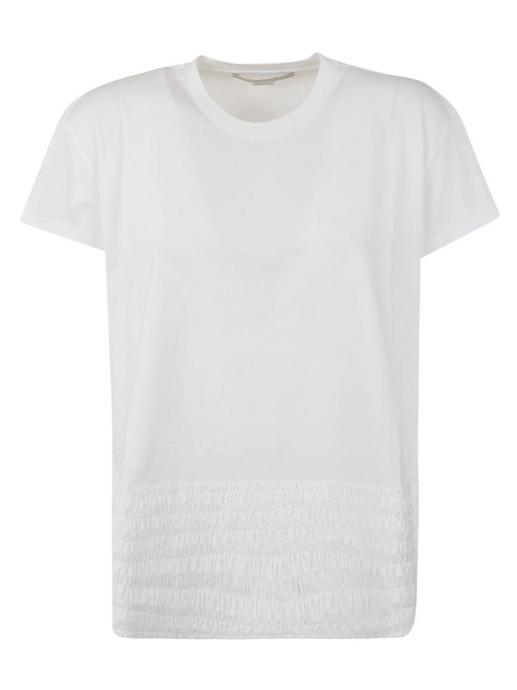 Stella Mccartney Ruffled Trim T-shirt in white