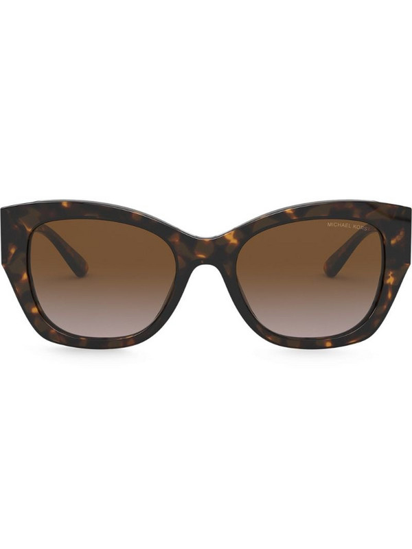 Michael Kors tortoiseshell frame sunglasses in brown