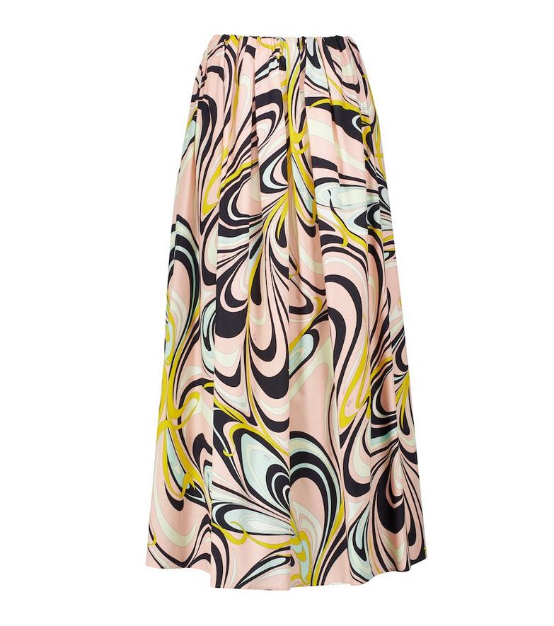 Emilio Pucci Beach Printed high-rise maxi skirt