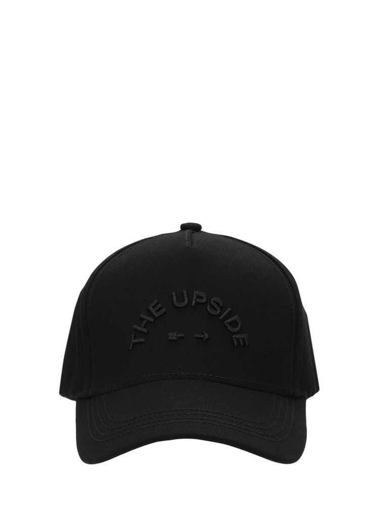 The Upside Logo Baseball Hat in black