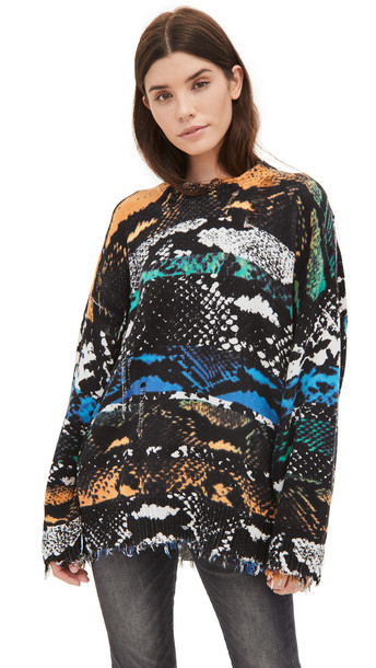 R13 Snake Print Oversized Sweater