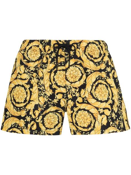 Versace Barocco print drawstring shorts - Yellow