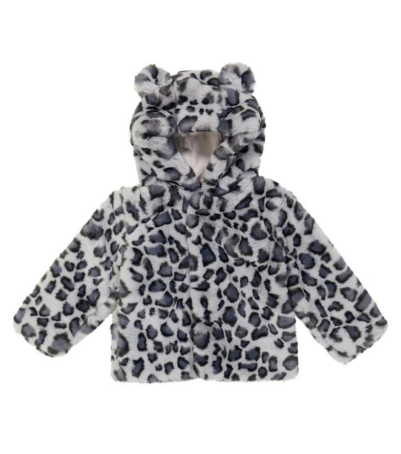 Molo Baby Ulva leopard print jacket in grey
