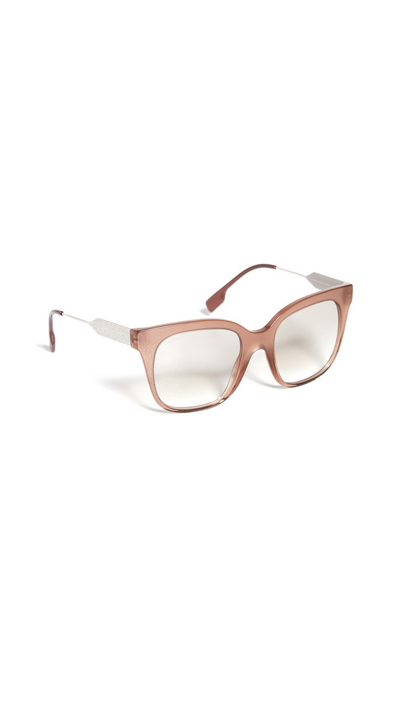 Burberry TB Logo Evelyn Sunglasses in brown