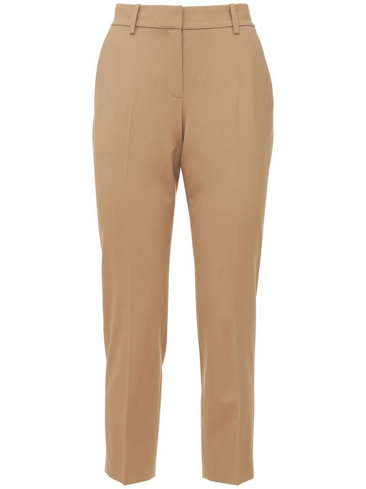 THEORY Treeca Wool Straight Crop Pants in camel