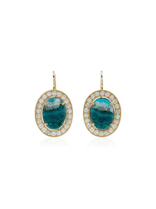 Andrea Fohrman opal and diamond earrings in gold