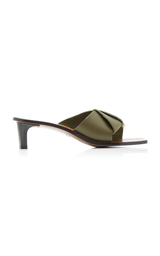 ATP Atelier Ostuni Leather Sandals in green