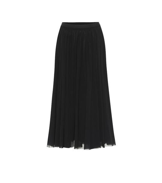 Jil Sander Stretch-jersey midi skirt in black