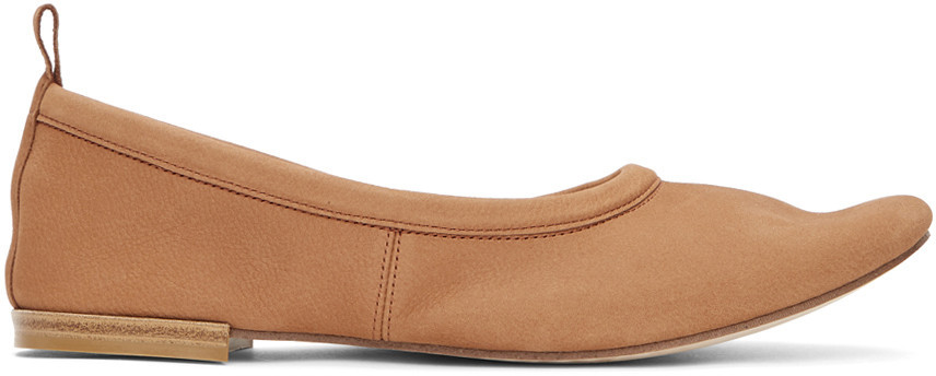 Repetto Tan Romeo Ballerina Flats in brown