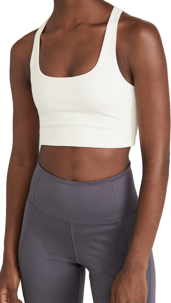 Girlfriend Collective Paloma Sports Bra in ivory