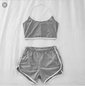 shorts,grey shorts,gym shorts,cotton sports shorts,sporty,grey,booty shorts,gym,gym clothes,american apparel,casual,heather grey