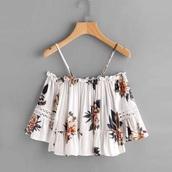 top,boho,bohemian,floral,print,printed top,fashion