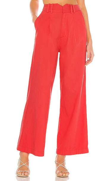 AMUSE SOCIETY Angelica Woven Pant in Coral