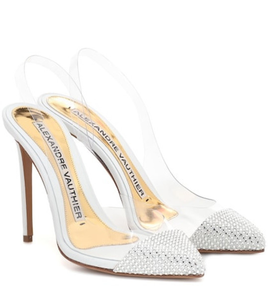 Alexandre Vauthier Amber embellished PVC pumps in white