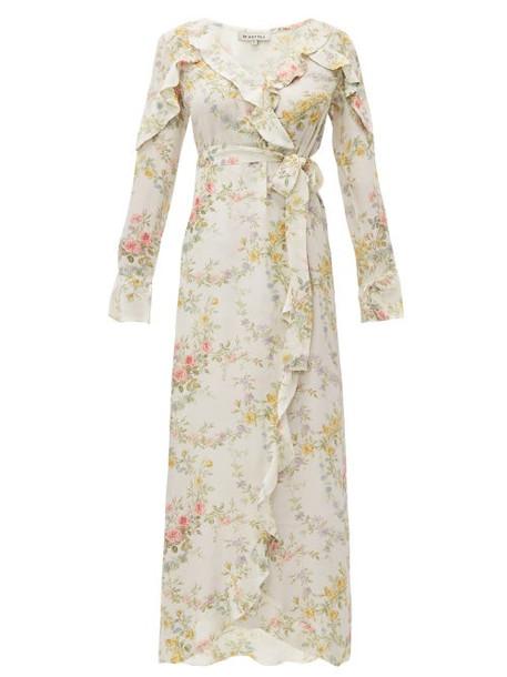 D'ascoli - Bedford Print Silk Crepe De Chine Dress - Womens - Yellow