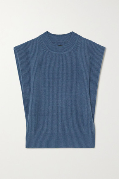 Isabel Marant - Bridget Ribbed Cashmere And Wool-blend Sweater - Blue