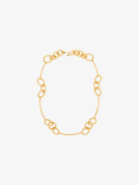 Tohum 24K gold plated loop link necklace