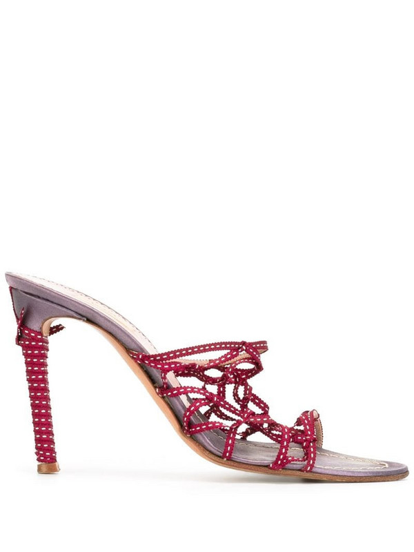 Prada Pre-Owned strappy mules in pink