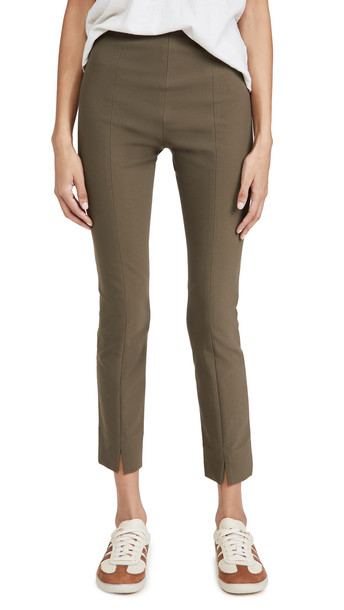 Vince Stitch Front Seam Leggings in taupe