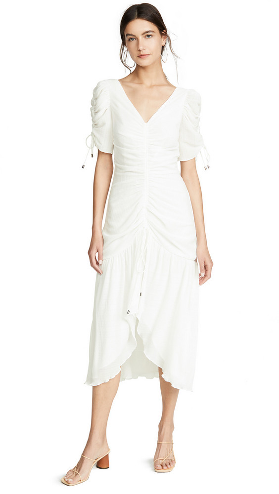 C/Meo Collective Method Midi Dress in ivory