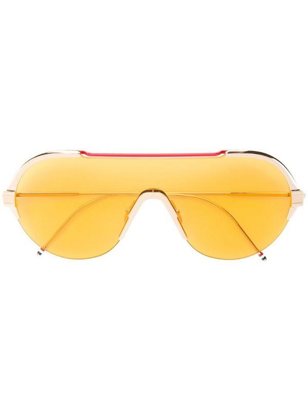 Thom Browne Eyewear aviator sunglasses in gold